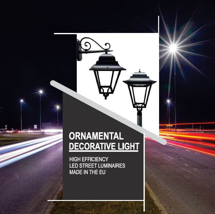 ornamental street light catalogue or archaic lamp