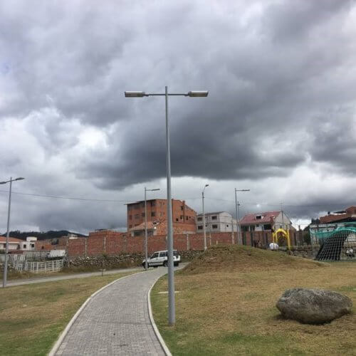 Luxtella LED street light references from Ecuador