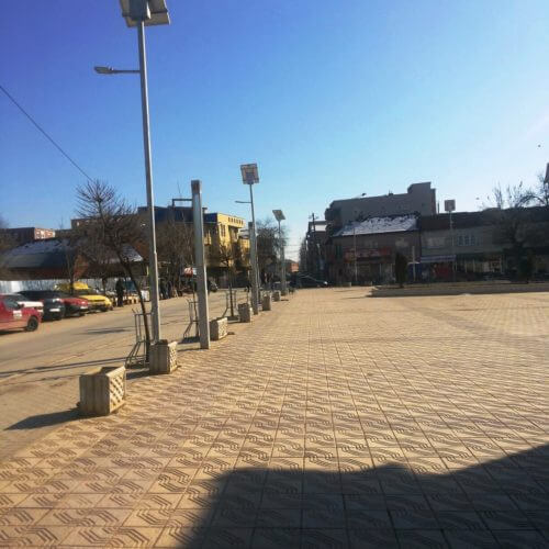 Luxtella LED solar street light references from Kosovo